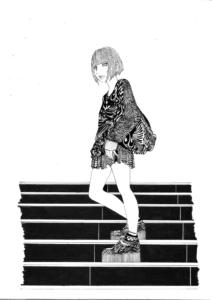 階段女の子